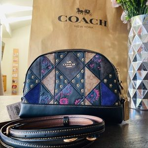 Coach Signature Mixed Patchwork Dome Crossbody